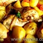 Жаркое из курицы в кленовом сиропе
