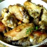 Куриные крылышки с имбирем