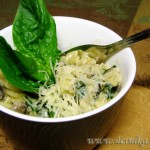 Паста с грибами и шпинатом