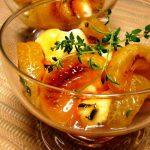 Горячий десерт из мандаринов
