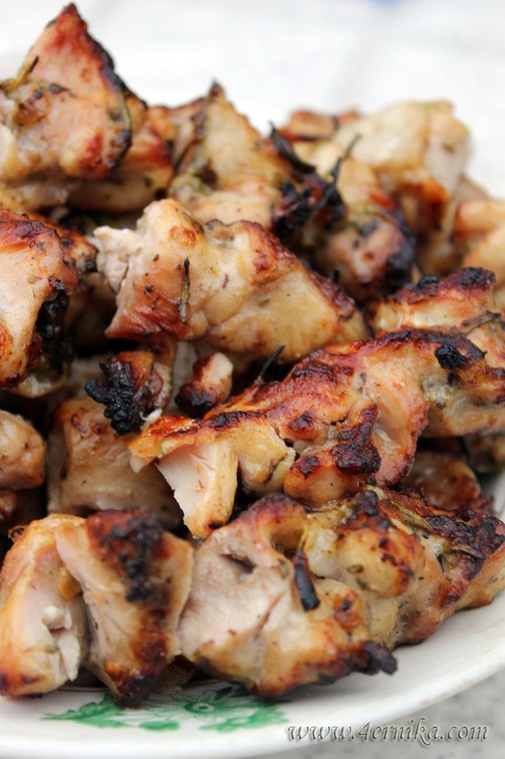 Шашлык из курицы с розмарином
