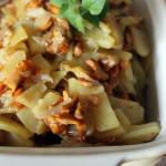 Картофель, обжаренный с лисичками
