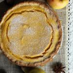 Пирог с тыквой и творогом