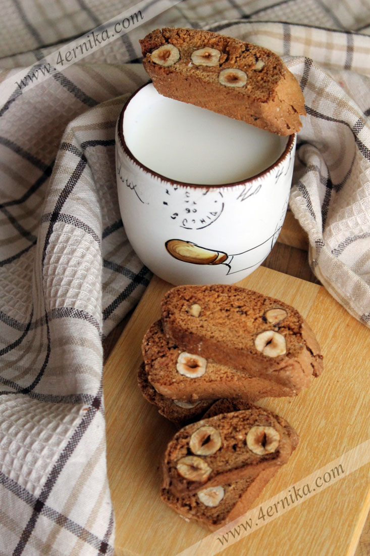 Кофейные бискотти с фундуком