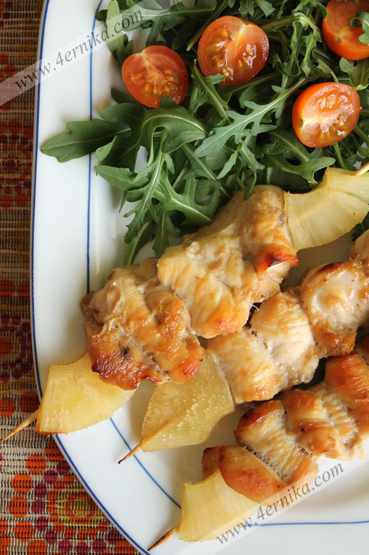 Куриные шашлычки в имбирно-соевом маринаде