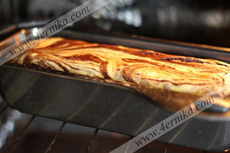 Тыквенный мраморный кекс