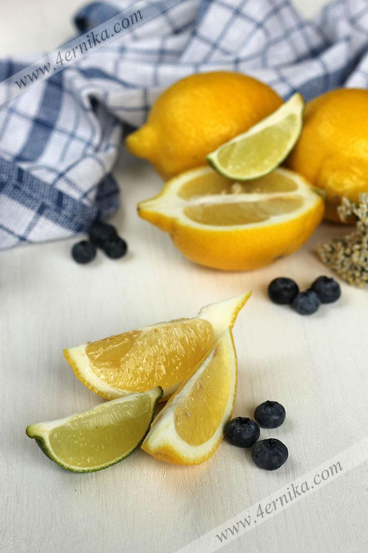 Тарталетки с лимонным курдом и голубикой