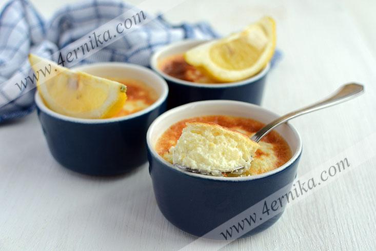 Лимонный рисовый пудинг