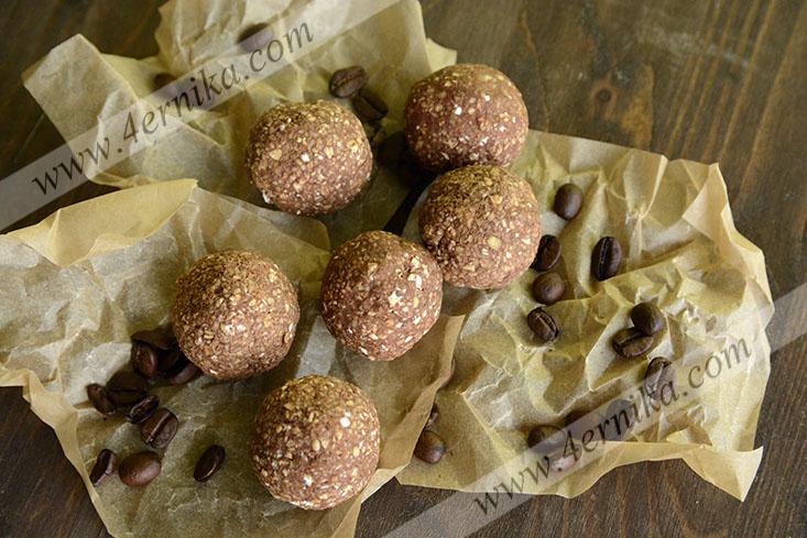 Шоколадные овсяные шарики